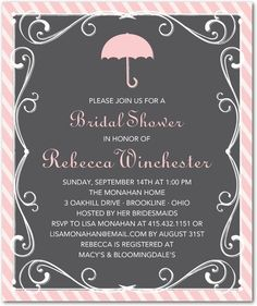 Filigree Fete - Studio Basics: Bridal Shower Invitations - Wedding Paper Divas Studio Basics - Charcoal - Gray : Front