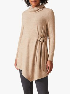Buy Phase Eight Horatio Buckle Tie Side Longline Snuggle Top, Neutral from our Women's Shirts & Tops range at John Lewis & Partners. Phase Eight, Neck Pattern, Roll Neck, Long A Line, Snuggles, Latest Trends, Personal Style, Tie, John Lewis