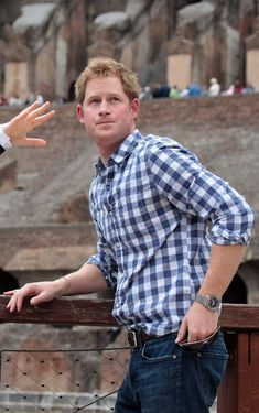 Prince Harry is seen during his visit to the Colosseum on May 19, 2014 in Rome, Italy. Prince Harry paid an unexpected visit to the Colosseum after asking to see some of the sights of the Eternal City at the end of a two-day visit to Italy