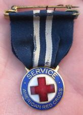 Vintage 1940s WWII American Red Cross Nurse Service Enamel Medal Vintage Nurse, American Red Cross, Pin Badges, Nurses, World War Ii, Wwii, 1940s, Bracelet Watch, Enamel