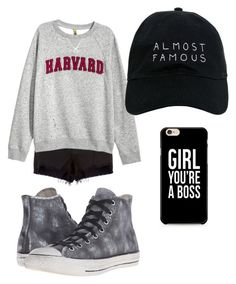 """""""BO$$"""" by williamskaitlyn-kw on Polyvore featuring rag & bone, Converse and Nasaseasons"""