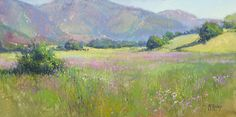 Spring's Promise by Richard McKinley Pastel ~ 9 x 18