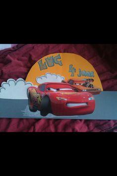 Verjaardagsmuts cars