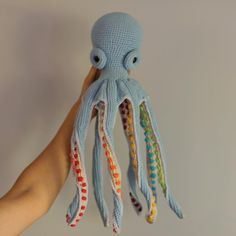 Octopus Crochet Pattern Free, Crochet Fish, Crochet Eyes, Crochet Octopus, Easy Crochet Patterns, Cute Crochet, Amigurumi Patterns, Crochet Animals, Crochet Dolls