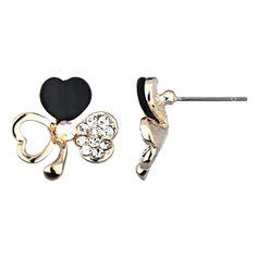 Lucky Clover Stud Earrings - #clover #stud #earrings