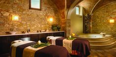 If you couldn't tell, we like wine a lot. So when we heard about a spa in Tuscany that offers red wine baths, we got crazy excited. The Essere Spa is located in the former wine cellar of a castle n...