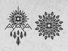 Tattoo Designs - by Keith Davis Young Except the eye a sun above the mountains