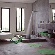 Some modern bathroom inspiration from around the web. (via apartmenttherapy) #modern #bathroom