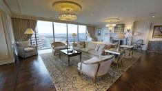 This stately Pittsburgh penthouse occupies a commanding position atop the city's skyline. With inlaid maple, white oak, and merbau wood floors, this penthouse is a majestic jewel of downtown Pittsburgh. Rich Home, California Homes, Pent House, White Oak, House Tours, Pittsburgh, Luxury Homes, Flooring, Dream Houses