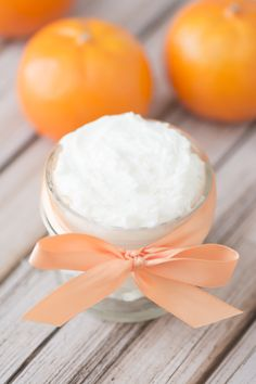 DIY Invigorating Whipped Orange Body Butter