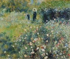 Woman with a Parasol in a Garden - Pierre-Auguste Renoir