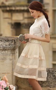 How to look amazing in long skirts and dresses. With the skirt not sheer.