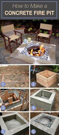 DIY Concrete Fire Pit Tutorial