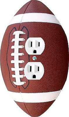 Football Ball Shaped wall plate Light Switch Outlet Decora Rocker cable cover