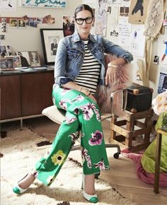 Conversation: Jenna Lyons - Style Muse In her office at J. Foto Fashion, Fashion Mode, Street Fashion, Mode Outfits, Fashion Outfits, Fashion Ideas, Jenna Lyons, Look Blazer, Mode Jeans