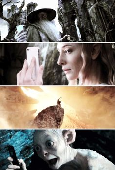Middle-earth selfies.