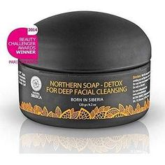 Natura Siberica Northern Natural Facial Soap Based On Activated Carbon Deep Cleansing Facial, Facial Cleansing, Natural Facial, Natural Skin Care, Natural Beauty, Charcoal Mask Peel, Lotion, Acne Face Mask, Face Masks