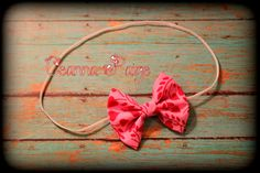 first valentines day headband fabric bow babys by CeannaPaige Fabric Bow Headband, Fabric Bows, Babys, Hair Bows, Valentines Day, Unique Jewelry, Handmade Gifts, Accessories, Vintage
