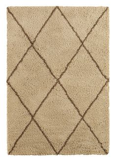 Colours Kitah Cream & Mink Diamond Lines Rug M - B&Q for all your home and garden supplies and advice on all the latest DIY trends