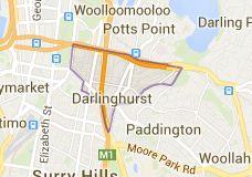 Map of Darlinghurst, Sydney