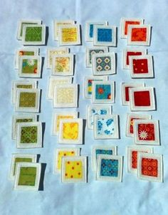 Felt Fabric Memory Game Bright Colors by MyPipouneShop on Etsy, $59.00