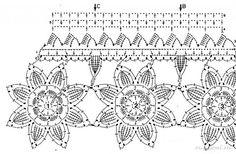 Tecendo Artes em Crochet: Barrados Lindos!