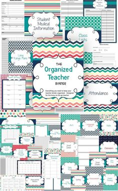 Keep organized with this teacher planner and binder dividers!