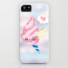 Capture a Candy Cloud for your very own! Sweet and cuddly, cute and lovely. :3 Inspired by the show: Adventure Time! Bubblegum Series: Candy Cloud iPhone Case by Micah Fenn - $35.00