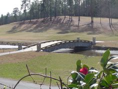 Free span cart bridge built by Nature Bridges for the prestigious Fort Gordon Golf Course in Fort Gordon, Georgia.