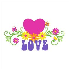 Pass along the love with this DIY Love & Flowers wall mural. Use the suggested colors or select your own paint colors.