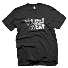 T-Shirt Save Asian Leopard Cat(Front)