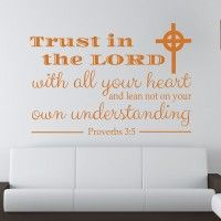 This Professionally designed wall decal is the perfect way to bring the message of faith to any room. In fact, it can be applied to nearly any flat, s