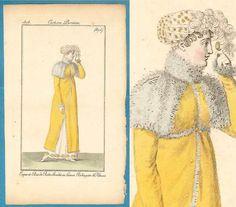 Georgian Regency fashion print 1808 Costume by SylvestraRegency Costume Parisien No 875