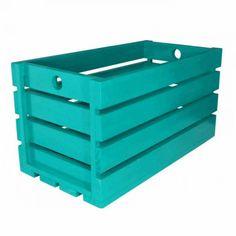 CAIXOTE RUSTIK AZUL Outdoor Furniture, Outdoor Decor, Outdoor Storage, Home Decor, Crates, Infant Room, Blue, Decoration Home, Room Decor