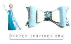 Frozen Elsa Inspired Bow Hairclip by Poparoo on Etsy