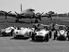 """The Mercedes-Benz Silver Arrows from 1934 to 1939. On 3 June 1934, the new Mercedes-Benz W 25 Grand Prix racing car won in its debut race – the international """"Eifelrennen"""", or Eifel race, at the Nürburgring. This thrilling first victory marked the beginning of a glorious era for European motor sport. Found on: http://silberpfeil.mercedes-benz-classic.com/news.php?lang=en"""