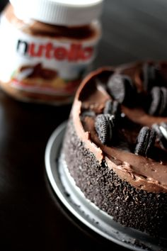 Nutella Oreo Cheesecake (The recipe is in French, but if you paste the URL into Google translate you will get an amazing recipe!)