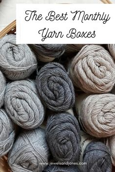 Looking for a monthly or quarterly crochet subscription box? If so, this quick list will help you find the perfect yarn box subscription. #crochet #yarnideas #yarn #subscriptionboxes #crochetideas