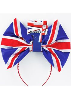 Union Jack Bow Headband