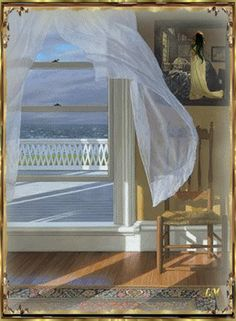 Blowing curtain love the concept on pinterest open window curtains