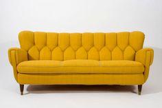Danish Sofa | Yellow | Mid Century Modern