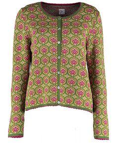 Deerberg Jacquard Cardigan Mikie, meadow/patterned