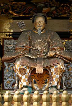 Statue of Leyasu Tokugawa in Nikko, Tochigi prefecture, Japan by Bernard Languillier Sea Of Japan, Asia, Island Nations, Win A Trip, Japanese Culture, Japanese History, Nikko, The Beautiful Country, National Treasure