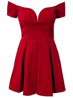 Bardot Dress - Forever Unique - Red - Party Dresses - Clothing - Women - Nelly.com Uk
