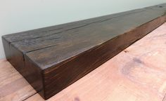 """Reclaimed Barn Beam 74"""" x 8"""" x 3"""", Fireplace Mantel, Rustic Mantle Shelf, Distressed Mantel, Rustic Decor, Mantle, Wall Shelf, Stained Beam by RusticbiltDecor on Etsy"""