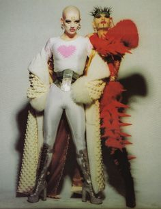 Polly Fey and Fabien Wildcat in Craig Morrison's 1995 Collection : The Rubber Ball, London