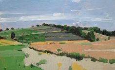 Morning Field Original Late Summer Plein Air Landscape by Paintbox