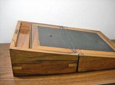 SALE 50  Antique English walnut writing box or by savingstuff