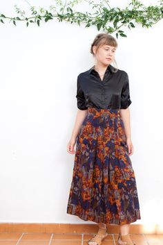 Vintage Medieval-Printed Skirt 80s Women Small Print 1980s Novelty 90s High-waisted by MjauVintage on Etsy