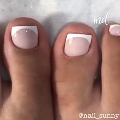 french manicure with lines ~ lines manicure . manicure with lines . french manicure with lines . manicure ideas lines . manicure lines simple . nail manicure lines . manicure black lines . manicure ideas with lines Diy Nagellack, Nagellack Trends, Pretty Toe Nails, Pretty Toes, French Nails, Almond Nails Natural, Nail Art Videos, Feet Nails, Toe Nail Art